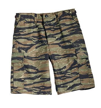 Bdu Shorts, Tiger Stripe Camo