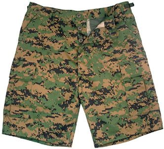 Bdu Shorts, Green Marpatt