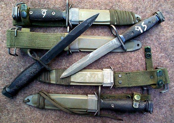 M-16 / Ar-15 Military Bayonet, Used