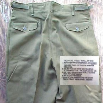 Wool Field Pants Used