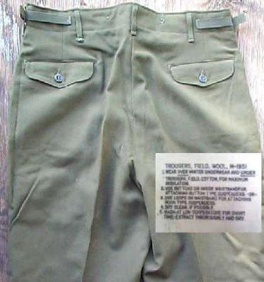 Wool Field Pants Used