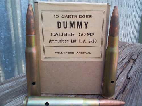 50 Cal Dummy Shells
