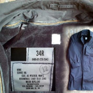 US Army All Weather Coat