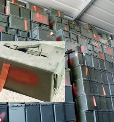 50 Cal Ammo Box, Used Fair Cond.