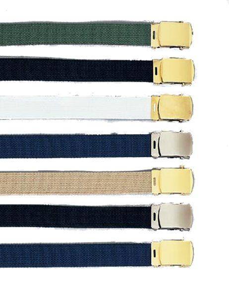 Military Web Dress Belt, Closed-face Buckle