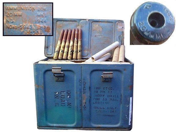 20mm Anti aircraft Dummy Rounds Ww2 Dated
