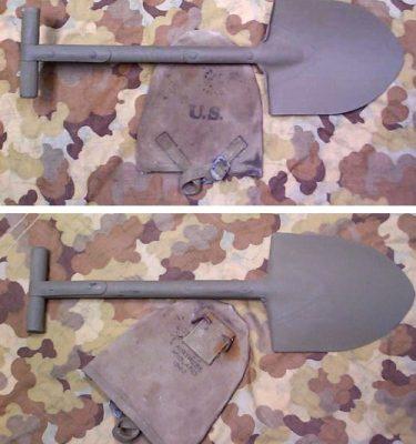 WW2 T handle Shovel & Cover