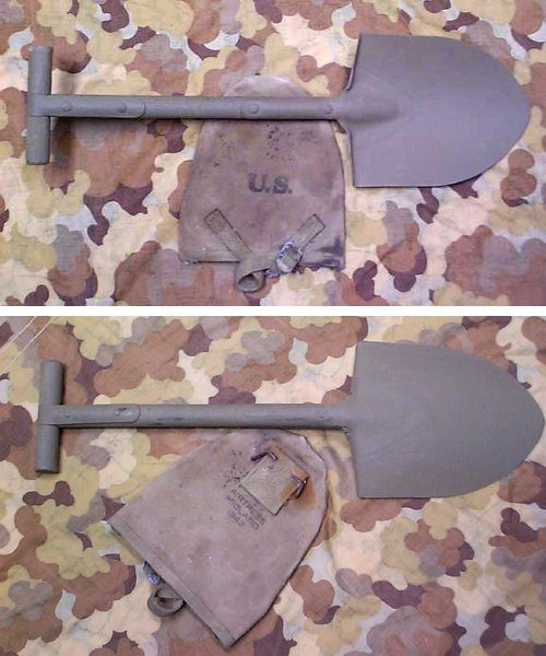 WW2 T handle Shovel & Cover