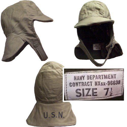 ww2 us navy military surplus flight deck hat