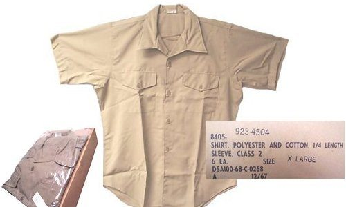 Vietnam Usmc Khaki Shirt, Short Sleeve
