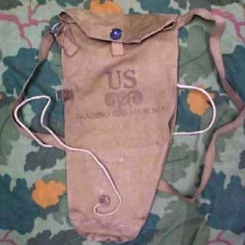 U.S. WW2 Gas Mask Bags