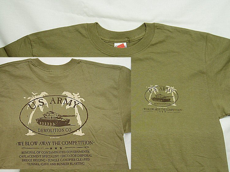 T shirt army demolition co for Military t shirt companies