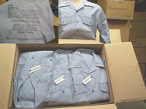 Usn Dungaree Work Shirt, Medium Short