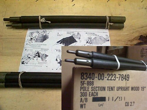 Military Pup Tent Poles 6pc Set New