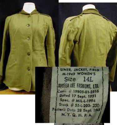 M-1945 Field Jacket Liner - Women s - 14l 20ba439655