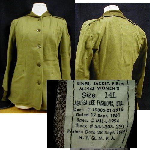 M-1945 Field Jacket Liner - Women's - 14l