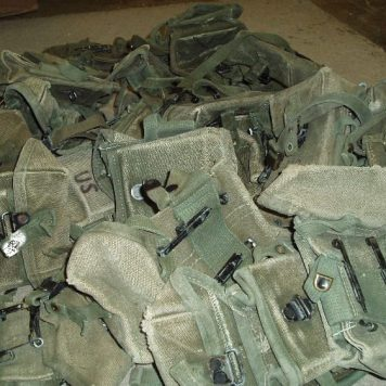 Vietnam M-16 Ammo Pouch, Canvas-Used Rough