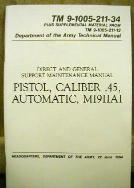 Pistol, Caliber .45 Manual