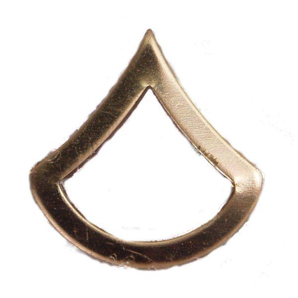 Army Pin-on Collar Rank, E-3, Pfc
