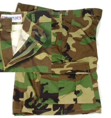 Bdu Shorts Woodland Camo