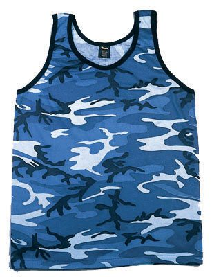Tank Top, Camouflage  Sky  Blue Urban