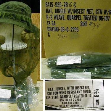 Vietnam Boonie Hat With Net, 6 3/4
