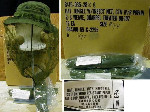 Vietnam Boonie Hat With Net, 6 3/4