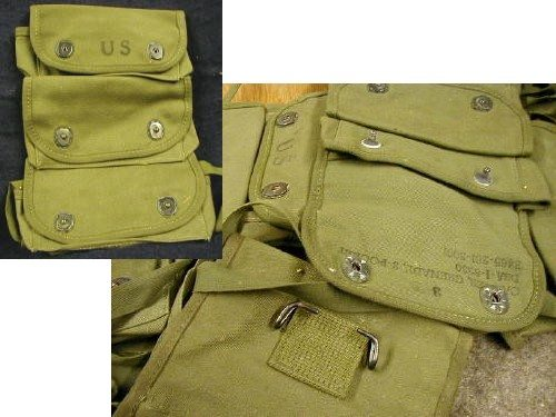 Vietnam 3 Pocket Grenade Pouch-new