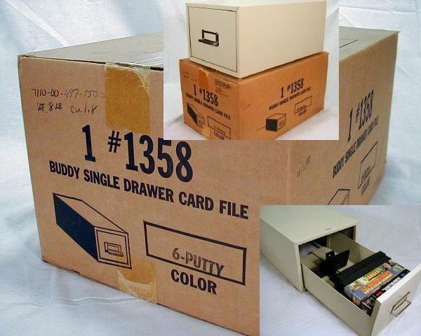 """Buddy File Drawer, # 1358, 5"""" X 8"""", Putty"""