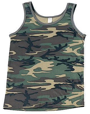 Tank Top, Camouflage Woodland