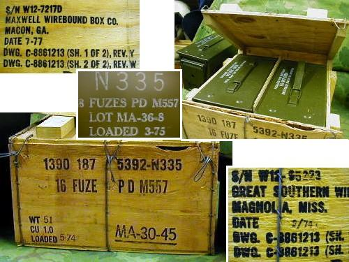 50 Cal Sized Ammo Boxes 2pc Crated