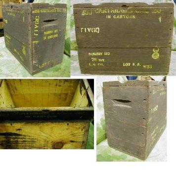 Wood Ammo Box 50 Cal