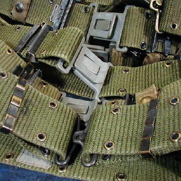 Military Pistol / Utility Belt, Used Medium