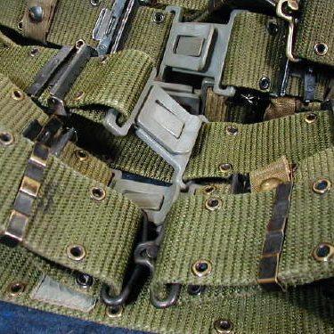 Military Pistol / Utility Belt, Used Medium