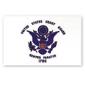 Flag USCG Crest 3' X 5'