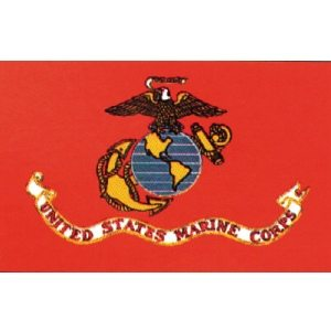 Flag USMC Crest 3' X 5'