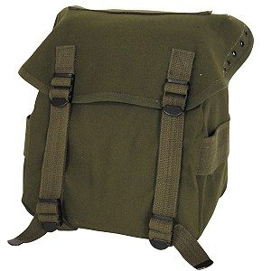 Canvas Buttpack, Reproduction, Olive Drab