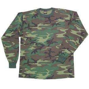 Youth T-shirt Long-sleeve Woodland Camo
