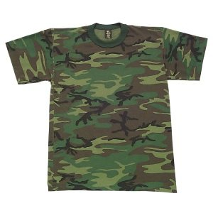 Youth T-shirt Short-sleeve Woodland Camo