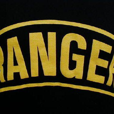 Army T-shirt Black Ranger, Large Logo