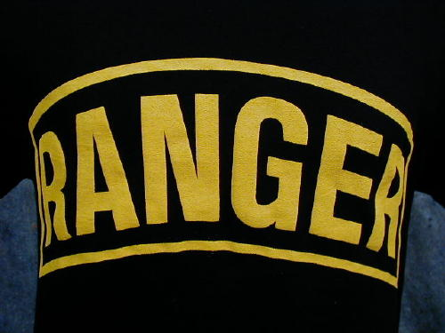 Army T-shirt Black Ranger, Large Logo
