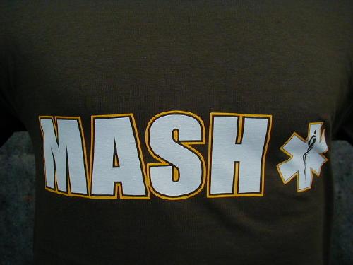 Mash T-shirt Olive Drab Green Large Logo
