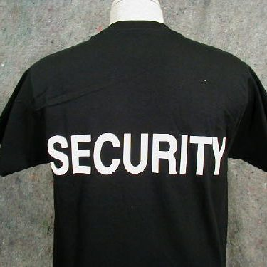 Security T-shirt, Black, Large Logo