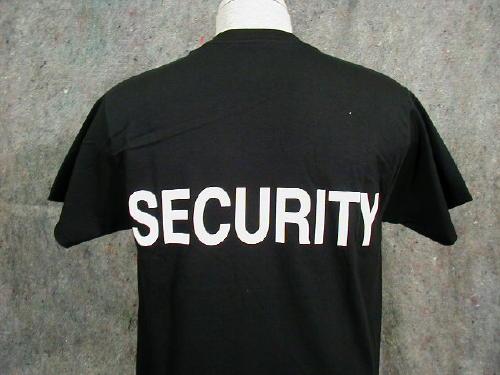 Security T-shirt, Black, Large Logo