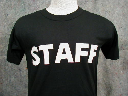 Staff T-shirt  Black Large, Logo
