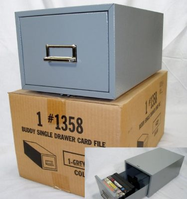 "Buddy File Drawer, # 1358, 5"" X 8"", Grey"