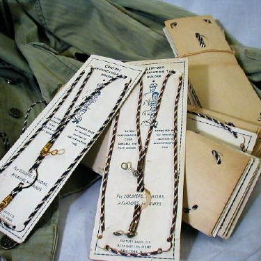 WW2 Dog Tag Holders , Cord