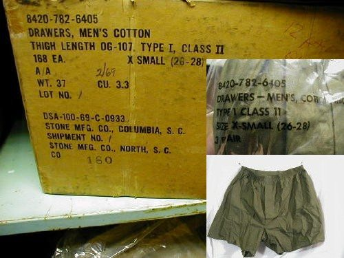 Boxer Shorts, Vietnam Issue, X-small, 3pk