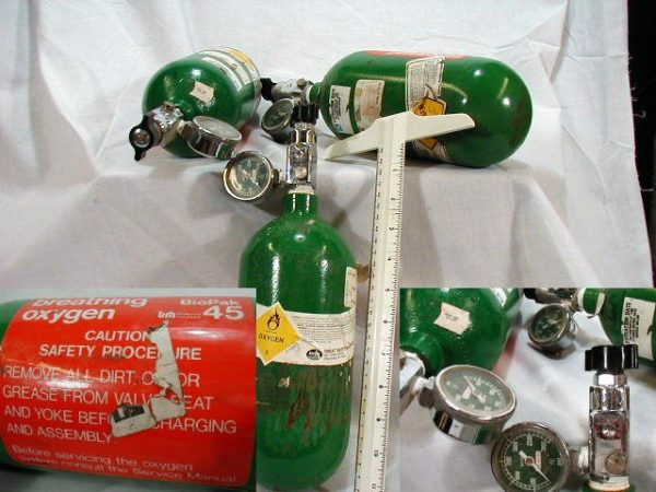 Oxygen Bottle, Green