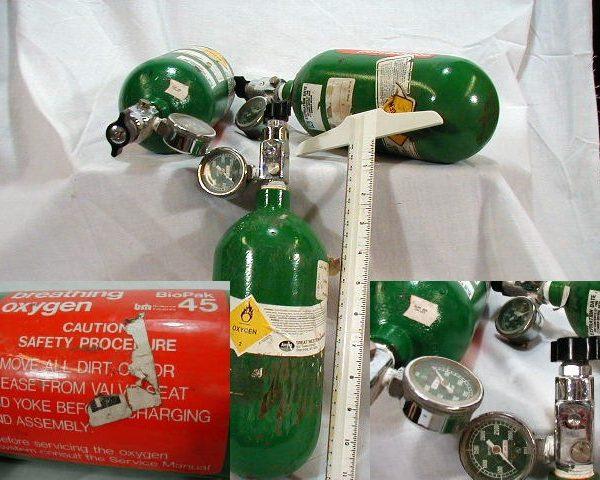 Oxygen Bottle, Green